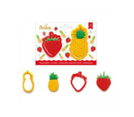 Pineapple and Strawberry cutter set 2 pcs