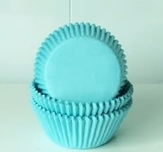 Cake cups Turquoise House of Marie 50 st