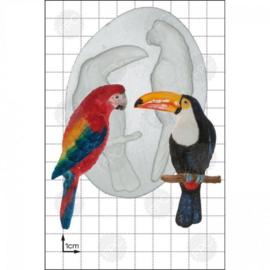 FPC Tarrot & Toucan (Papegaai en Toucan) silicone mould