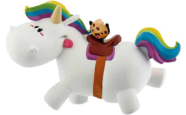 Chubby Unicorn Riding cake topper