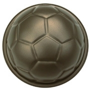 3D Mini voetbal bakvorm 9 Cm/2 delig