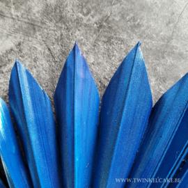 Sun Palm Metallic Royal Blue