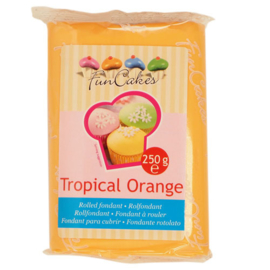 Rolled fondant Tropical Orange 250 gr