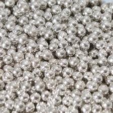Suikerparels Metallic zilver