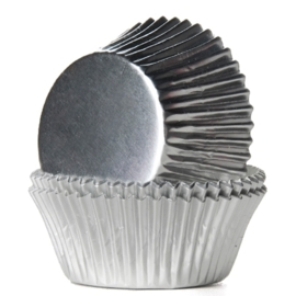 Baking cups metallic zilver House of Marie