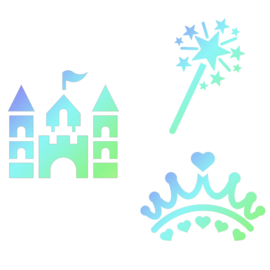 Stencils JEM Princess set 3 st