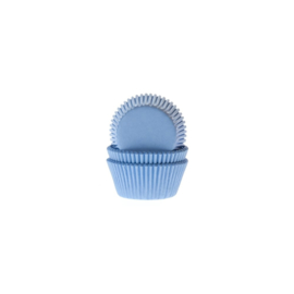 Cake cups Baby Blue mini - 50 st
