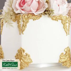 Katy Sue Rococo Corners & crest silicone mould