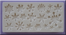 Snowflakes Alphabet Moulds