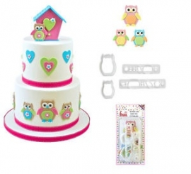 Owl mummy and baby FMM cutter set