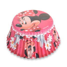 Minnie mousse baking cups - 50 st (roze)