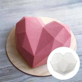 Diamant Hart silicone bakvorm