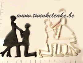 Proposal silhouette (aanzoek) cutter cupcake