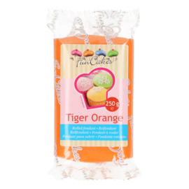 Rolled fondant Tiger Orange 250 gr
