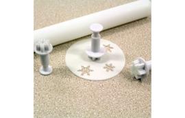 Mini Snowflake PME plunger/cutter set 3 St