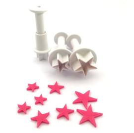Mini Star plunger Dekofee set 3 st