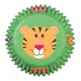 Cake cups tijger mini