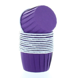 Baking cups bwl paars - 12 st