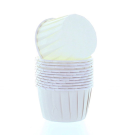 Baking cups bwl Ivory (wit) - 12 st