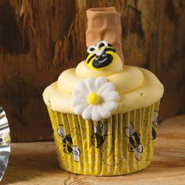 Bij (Honeycomb) cupcakepapiertjes 50 st