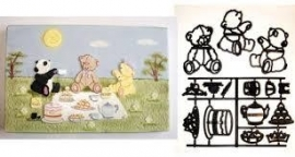 Patchwork Teddy bears picnic