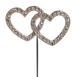 Diamond double heart cake topper (pic)- Cake Star