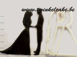 Wedding Couple Silhouette cutter