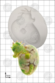 FPC Hatching Dragon 3D (uitkomende draak) silicone mould