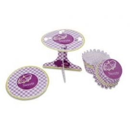 Sweets cupcake decoset (36 st)