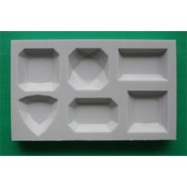 Edelstenen Gem3 alphabet moulds