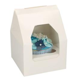 Cupcakedoosje (1 cupcake) - 5 st (wit)