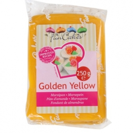 Pâte d'amendes jaune or 250 gr