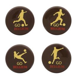 Go Belgium assortiment ronde chocoladeschildjes 12 st