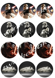 Feuille alimentaire cupcake star wars 3