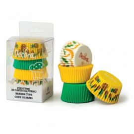 Tropical party baking cups 75 st (assortiment)