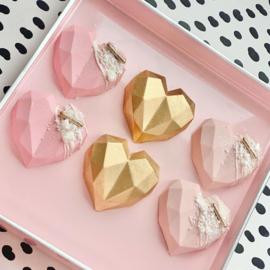 mini diamant hart siliconen mal