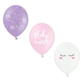Unicorn ballonnen mix - 6 st