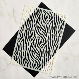 Stencil Zebra patroon