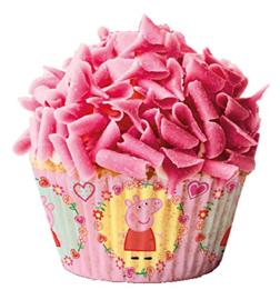 Peppa cupcakepapiertjes 50 st