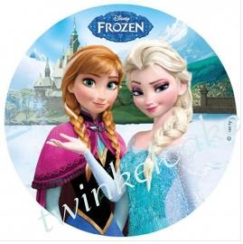 Taartprint Elsa en Anna 1