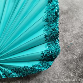 Palm Turquoise Glitter