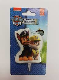 Paw Patrol 2D Candle (Chase + Rubble)
