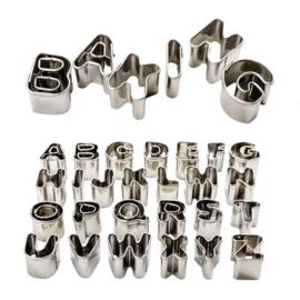 Metalen alphabet en cijfers uitstekerset PME - 36 st