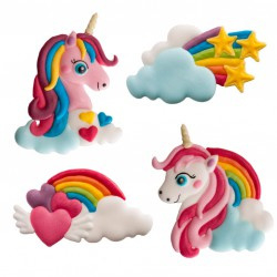 Unicorn sugar decoration  2 st (set 2)