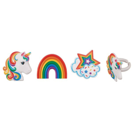 Unicorn (eenhoorn) rings set 3 st