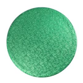 Cake drum groen rond 30 cm
