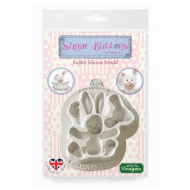 Rabbit silicone mould SB (Katy Sue Design)