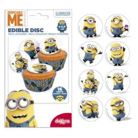 Minion mini sugar discs 16 st