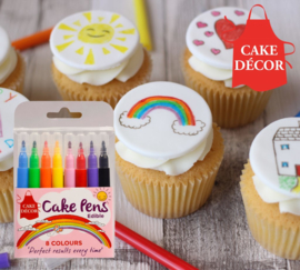 Edible Icing Pen Cake Decor - 8 st.