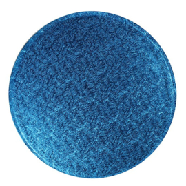 Plateau à gâteau bleu foncé rond 30 cm par 5 pcs